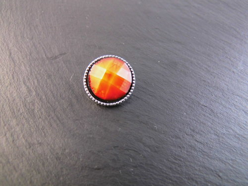 Mini Click Button orange vintagestil