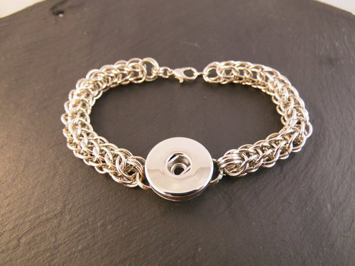 Chainmail Click-Button Armband CLICKI