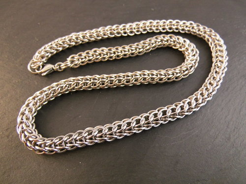 Chainmaille Edelstahl Kette YVONNE