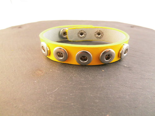 Mini Click-Buttons Armband gelb