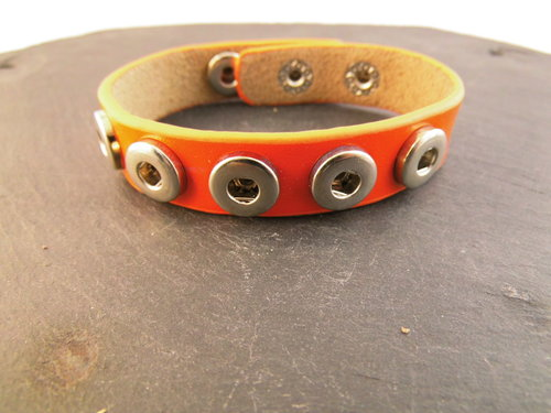 Mini Click-Buttons Armband orange