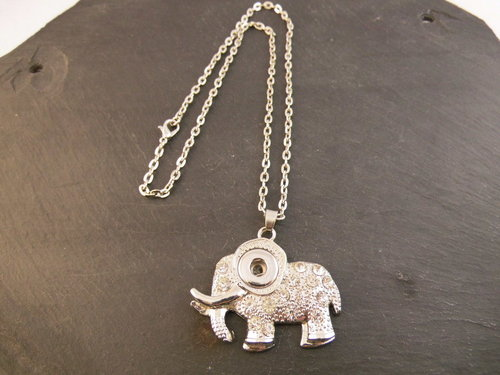 Mini Click-Buttons Kette Elefant